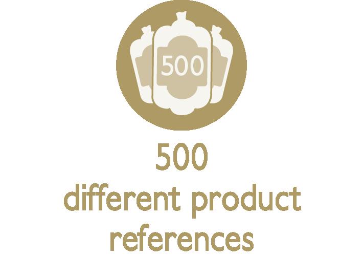 500 referenze diverse di prodotto