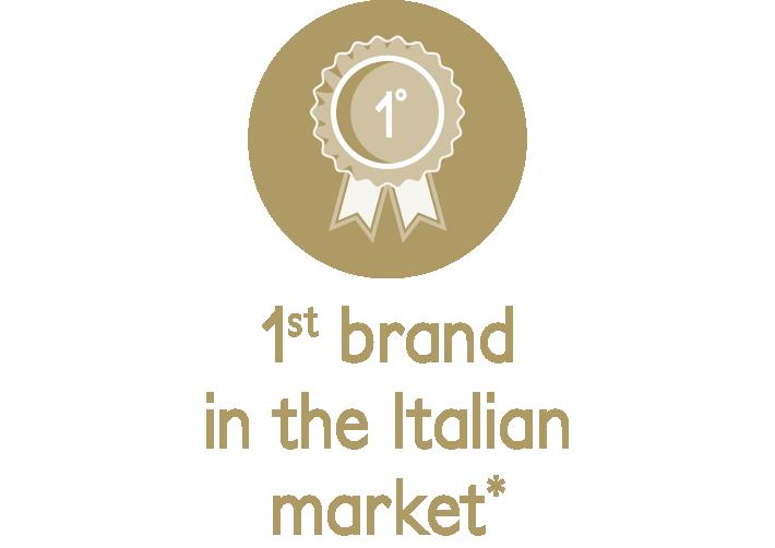 1° brand nel mercato italiano